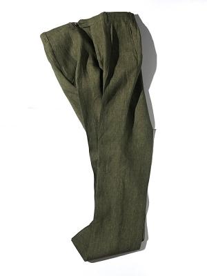 Germano 344 4735 Linen Slacks - Green