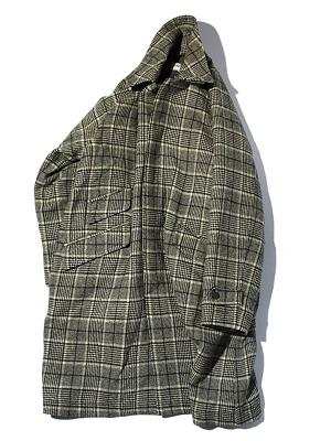 Eastlogue Balmacaan Coat - Beige Black Check